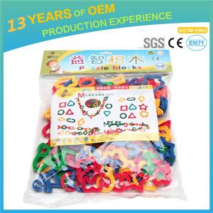 Kids DIY geometric series  blocks toys, 179 pieces toy set for kids, safe, non toxic