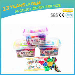 kindergarten educational toys, 80pcs wisdom jigsaw comparable with lepin bilding bricks 500g