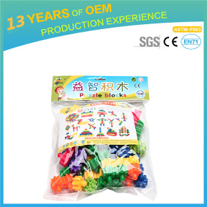 Kindergarten Early Education Toys, Double Stare Blocks, Play Set for Children with 45pcs