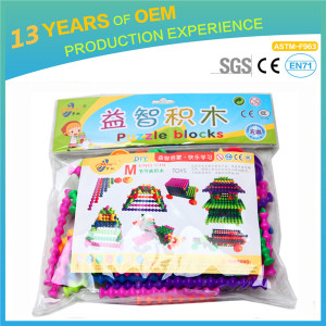 newest engineering Bamboo building block toys, 77 pcs pp plastic educational brick toys,