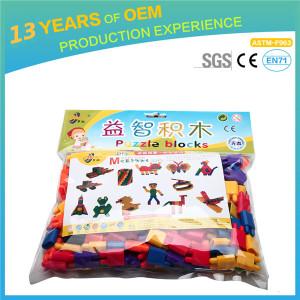 china toys 2*3 cm colorful pp material Plastic building bricks, diy toys set MC004-33 rocket bulett blocks