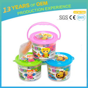 12 colors super light clay, non-toxic environmental educational color clay