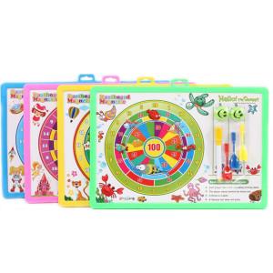 Custom made Children magnetic white board for fridge , high quality educational magnet writing board