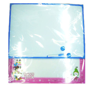 Hot sale fashion magnetic white boards with plastic fram for children kids
