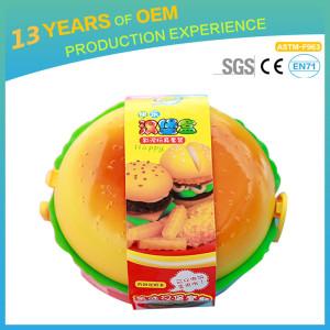14 colors baby dough, Yiwu  hamburger shaped children's dough customization
