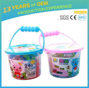 kindergarten intelligent DIY toys, 3D colorful healthy flour modelling clay for kids