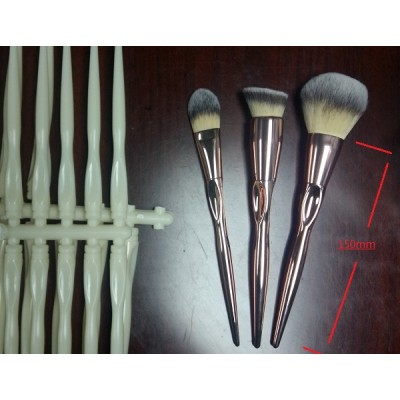 factory design 3pcs sharp end handle makeup brush set