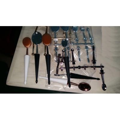rose red oval makeup brush set, toothbrush makeup brush set in individual or set