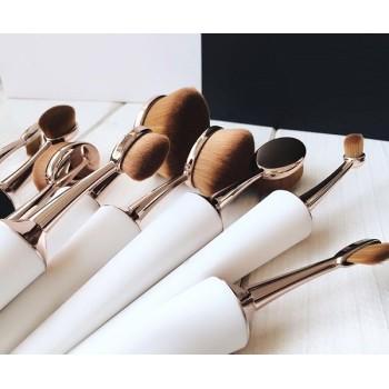 rose red oval makeup brush set, taper makeup brush set in individual or set