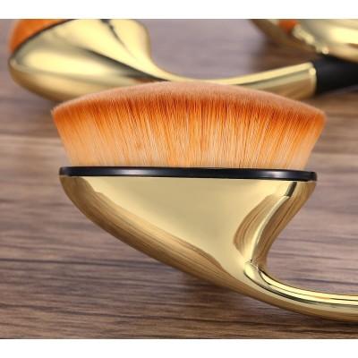 rose red oval makeup brush set, golf makeup brush set in individual or set