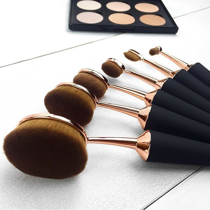 mermaid oval makeup brushes