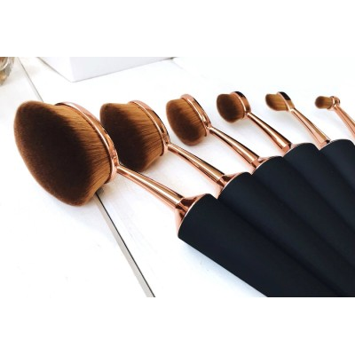 rose gold oval makeup brush set, mermaid makeup brush set in individual or set