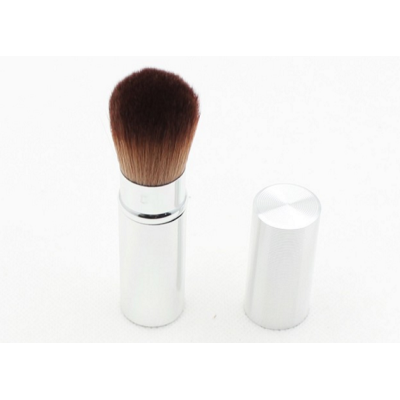 latest design multi use aluminium tube retractable makeup brush for travel