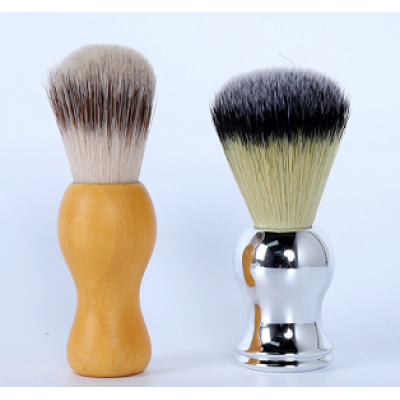 high quality shaving brush with wood handle aluminium handle