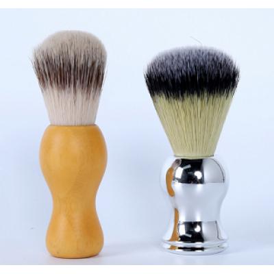 high quality shaving brush with wood handle aluminium handle