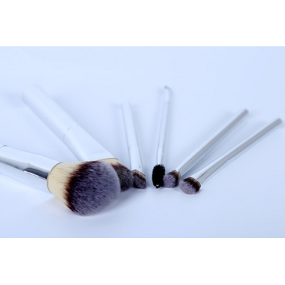 good selling 6pcs makeup brush set aluminium long handle OEM service