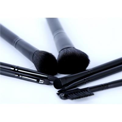 black color high quality 7pcs makeup brush set OEM service