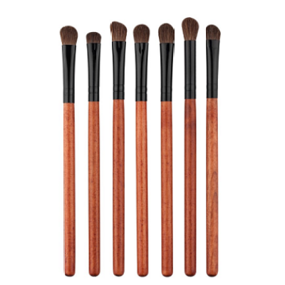 Chengfa 7Pcs Vegan kabuki wood handle Make Up Brush Set Cosmetics Maquiagem Makeup Brush