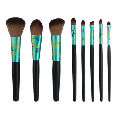 Chengfa 7pcs Latest Fads Cosmetic Brush Set Private Label Vegan Oval Makeup Brush