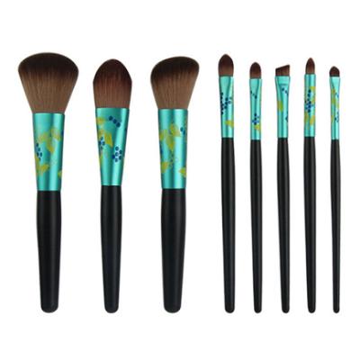 Chengfa 7pcs Latest Fads Cosmetic Brush Set Private Label Vegan Oval Makeup Brush