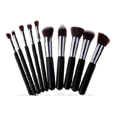 original makeup brush setoriginal makeup brush set 10PC Cosmetics makeup brushes set with PU bag made in china