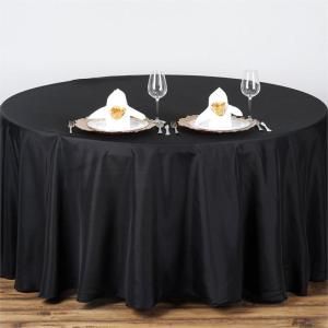 100% polyester 108'' round table cloth