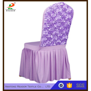 Rose Stretch Chair Cover Skirt