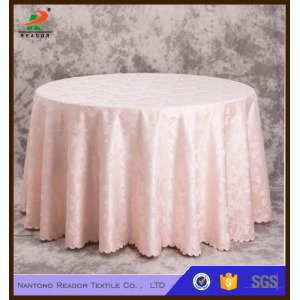 Round Linen Jacquard Tablecloth