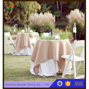 Burlap Tablecloth Round