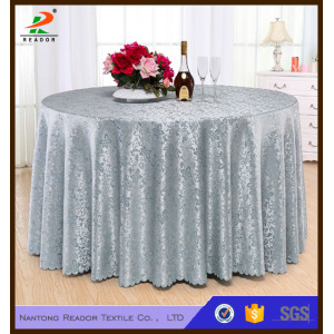 Gold Round  Jacquard Tablecloth