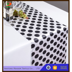 14 x 108 in. Polka Dot Satin Table Runner