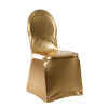 Metallic Spandex Banquet Chair Cover