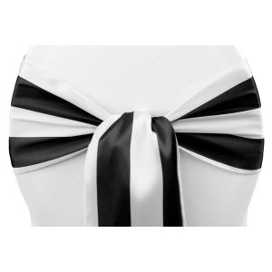 Stripe Satin Chair Sash