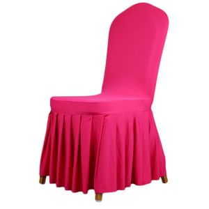 Pleated skirt patterns Elastic Chair cover