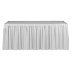 Table Skirt with Shirred Pleats