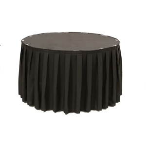 Table Skirting Box Pleated Spun Polyester