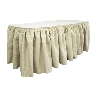 Burlap  Pleated Table Skirt