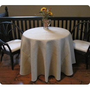 Jute Burlap Round Tablecloth