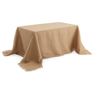 Jute Faux Burlap Tablecloth Rectangle