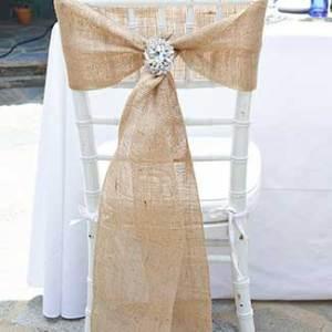 Jute Burlap Chair Sash