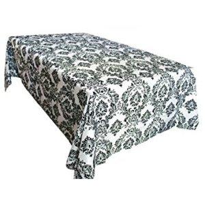 Rectangle Customize Damask Flocking Tablecloth