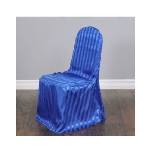 Striped Satin Banquet Chair Cover