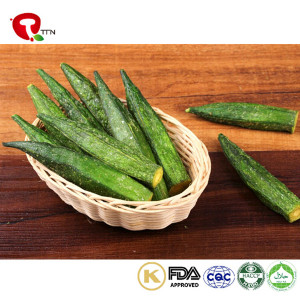 TTN Best Healthy Snacks of Vacuum Fried Okra Food From Chinese Fresh Okra