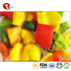TTN Bulk Wholesale Vacuum Fried Pepper Vegetables With Green And Red Pepper Nutrition