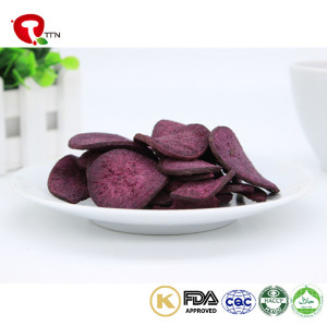 TTN Chinese Wholesale Vacuum Fried Vegetables Snacks of Fried Purple Potatoes