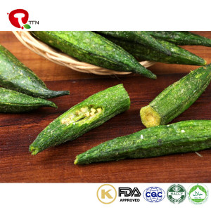 TTN Wholesale Vegetables Vacuum Crispy Fried Whole Okra Food Price