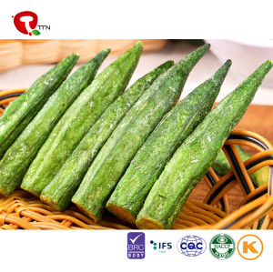 TTN Chinese Hot Sale Vacuum Fried Okra Vegetables As Healthy Fried Okra Snacks