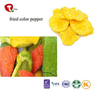 TTN Fried Color Pepper Healthy Snacks Of Vacuum Fried Pepper Vegetable