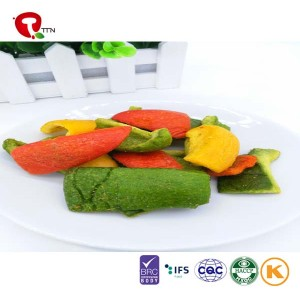 TTN 2018 Fried Color Pepper Healthy Snacks Of Vacuum Fried Pepper Vegetable