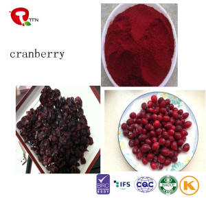 TTN Chinese Hot Sale Freeze Dried Cranberries Fruit Wiht Dried Cranberries Nutrition
